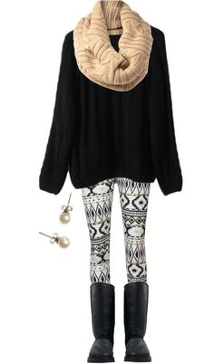 """Aztec Leggings"" by qtpiekelso ❤ liked on Polyvore"