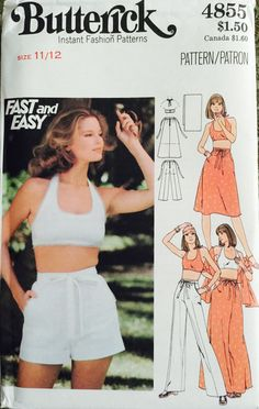 Butterick 4855 Size 11/12 Young Junior/Teen Halter by tealducktoo