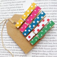 Pack of 5 dotty pegs, multi colours available to buy here: https://www.etsy.com/uk/listing/188262796/pack-of-5-dotty-pegs-multi-colours?ref=shop_home_feat_3