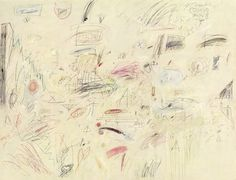 Cy Twombly - The Italians (1961) Oil, pencil, and crayon on canvas