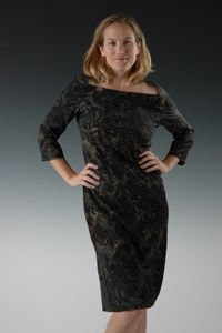 Marbled Silk Simply Fitted Dress