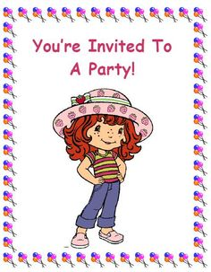 Printable Invitations Free-including strawberry shortcake