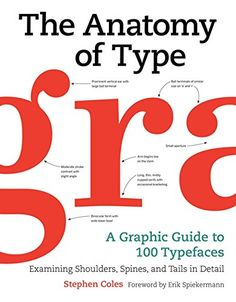 "Read ""The Anatomy of Type A Graphic Guide to 100 Typefaces"" by Stephen Coles available from Rakuten Kobo. The Anatomy of Type is the ultimate stylistic guide to the intricacies and design of 100 indispensable typefaces. Cool Lettering, Typography Letters, Hand Lettering, Graphic Design Books, Book Design, Graphic Designers, Type Anatomy, Font Anatomy, Modern Typeface"