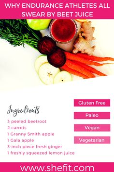 Beets for Pre-Workout Fuel: 3 All-Natural Homemade Drink Recipes Beet Recipes, Drink Recipes, Red Juice Recipe, Good Pre Workout, Workout Drinks, Proper Nutrition, Sports Nutrition, How To Squeeze Lemons, Beetroot