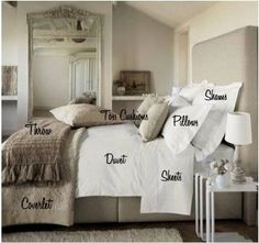 The Chronic Dreamer: Decor: How To Make Your Bed Like A Luxury Hotel - Luxury Decor - Modern Bedroom Make Your Bed, How To Make Bed, How To Dress A Bed, Dream Bedroom, Home Bedroom, Master Bedrooms, Bedding Master Bedroom, Guest Bedrooms, Girls Bedroom