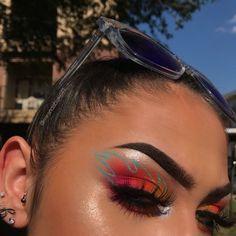 fire makeup look,,,,literally