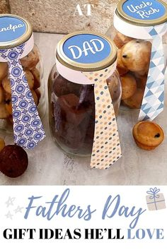 Need some gifts ideas for fathers day? Here are some gifts ideas that he'll love from daughter, from son, from wife, from kids, from mom. These are gifts ideas from kids, they're crafts, cards, and can be for your first fathers day!