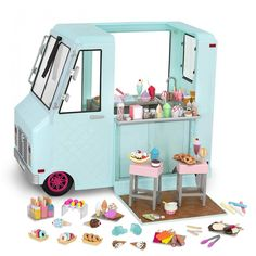 This fits your . by entering your model number. Come and get some ice cream. Everybody gather around and choose your favorite flavor. This OG Doll sized Ice Cream Truck includes 125 pieces of fun Fits 18 inch dolls. Our Generation Doll Accessories, Our Generation Dolls, Og Dolls, Girl Dolls, Barbies Dolls, Baby Dolls, Doll Crafts, Diy Doll, Wrapping Ideas