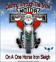 Enjoy your day Harley Davidson Shop, Harley Davidson Photos, Harley Davidson Wallpaper, Harley Davidson Motorcycles, Christmas Scenes, Christmas Art, Christmas Quotes, Biker Quotes, Harley Bikes