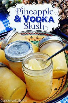 Pineapple Vodka Slushes