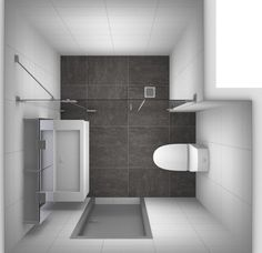 Small bathroom with walk in shower