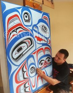 Read about the creative process of making Northwest Coast Native Art & Jewelry Native Canadian, Canadian Art, Native American Art, Haida Kunst, Haida Art, Awesome Art, Cool Art, Bear Paintings, Native Design