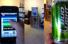 The Mini-Fridge Beer Cannon Vends, Cools, and Shoots Beer via Your iPhone #stpattysday