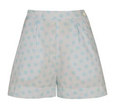 Tara Starlet - Baby blue polka dot shorts.