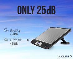 Klim K300 Swift Halterung belüfteten Einstellbare Geschwindigkeit Laptop Kühler 2 Lüfter  EUR 29,90