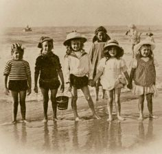 Long loose clothing and sun hats,  traditional and sun safe