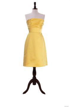 wedding stuff Sleeveless Satin Empire Strapless Dress $110.98