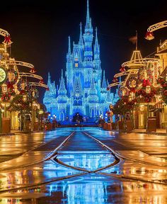 Learn what it takes to make Walt Disney World magical during the holiday season. Walt Disney World, Disney World Magic Kingdom, Disney World Florida, Disney Parks, Disneyland Christmas, Disneyland Castle, Disney World Christmas, Christmas Time, Disney Vacation Club
