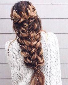 Dirty blonde braid hairstyle #hairstyles #braids