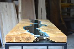 Tavoli Alti Fai Da Te : Tavolo in pelle bianca legno grezzo vetro e led koks pinterest