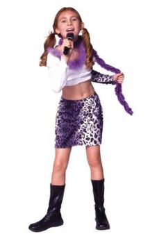 rock star costume with skirt