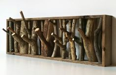 Upcycle broken twigs into a coat rack