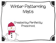 These patterning mats are perfect for the winter months. They are made with winter themed items such as hats, mittens, snowmen, and penguins. There are AB patterns as well as AAB and ABB. This is a great activity for preschoolers to learn patterning. There is a sheet that is included that has the missing pattern piece for each mat.