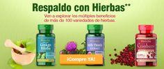 Ven a explorar los múltiples beneficios de nuestras más de 100 variedades de hierbas... http://es.puritan.com/search?scid=29135