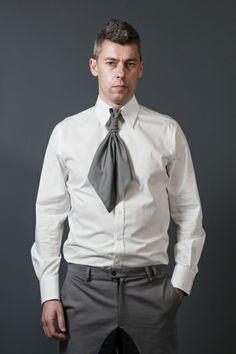 Biała koszula męska w BLUE EYE POP na DaWanda.com