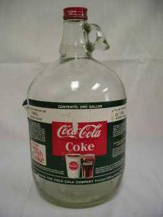 1950S/60S COCA COLA 1 GALLON SODA FOUNTAIN SYRUP JUG BOTTLE W/