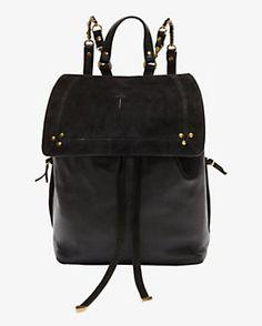 Jerome Dreyfuss Florent Noir Caviar Backpack