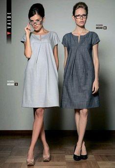 Vestidos y vestidos de lino: Ideas y . Mode Outfits, Dress Outfits, Fashion Dresses, Simple Dresses, Casual Dresses, Summer Dresses, Fashion Sewing, Diy Fashion, Sewing Clothes