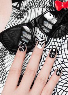Mod HELLO KITTY, HELLO KITTY nail wrap