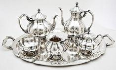 Silver Tea Service Sets | Salvador de la Serna 6 Pc Sterling Tea Set – Photograph: Cordier ...