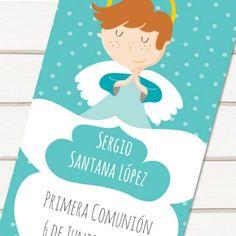 Marcapáginas de comunión Angel niño topos