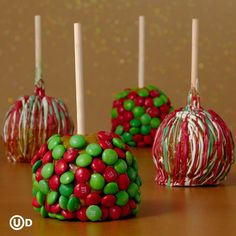 Christmas Apples- Mommy dips & then let kiddos decorate when lukewarm