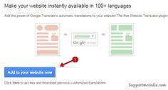 Add google translate tool in wordpress