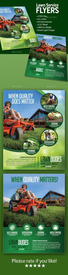 lawn service flyers template download httpgraphicrivernetitem