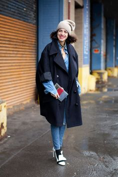 Leandra Medine - Street Style Fall 2013 - New York Fashion Week Street Style