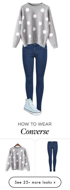 """b"" by garaff on Polyvore featuring WithChic and Converse"