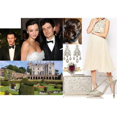 Attending the pre-wedding dinner of Alex and Betty at Lilleshall Hall with Fred by marywindsor on Polyvore featuring ASOS, L.K.Bennett and Olivia Collings Antique Jewelry