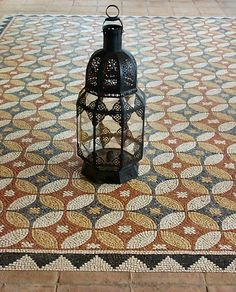 Roman Mosaic Floor Tiles - Classic Design - Terrace Rug