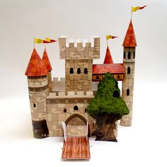 Paper craft castle - Can't save, must print directly. X
