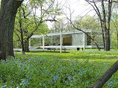 Farnsworth House - Mies van der Rohe 1945-1951. RIver Road, Plano, Illinois