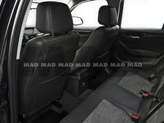 Alcantara® Perfo nimbus + Leather Look anthrazit Bmw, Car Seats, Leather, Vehicles