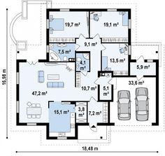 Проект дома Z17 - план-схема 1