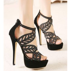 US $16 Fashion Western Style Hollow Out Beading Back-zipper Thin Heels Sandals EMAIL:inform@clubwholesale.net Whatsapp:+8613925860560      #womensandals #wholesale #sandals #wholesalesandals