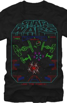 5baded10 Star Wars Use The Force T-Shirt With the popular video game from this shirt  features the best art and illustration in men's fashions.