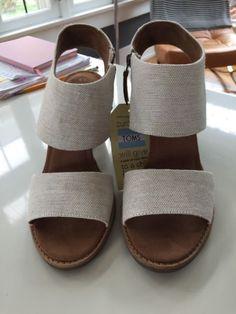 2410293c7b1d22 Tom s Majorca Cutout sandal Sz 9 NWOB Natural Yard Dye