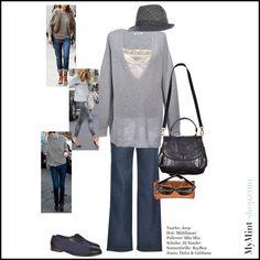 Herbstlook cool, easy und stylish Hut: #Mühlbauer Pullover: #MiuMiu Jeans: #DolceGabbana Tasche: #JOOP Sonnenbrille: #RayBan Schuhe: #JilSander #FASHIONBLOGGER #mymint